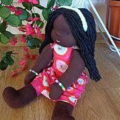 Куклы и игрушки ручной работы. Ярмарка Мастеров - ручная работа Вальдорфская кукла негритянка. Handmade.