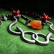 Украшения ручной работы. Ярмарка Мастеров - ручная работа Колье с натуральными камнями Змеи клубятсся. Handmade.