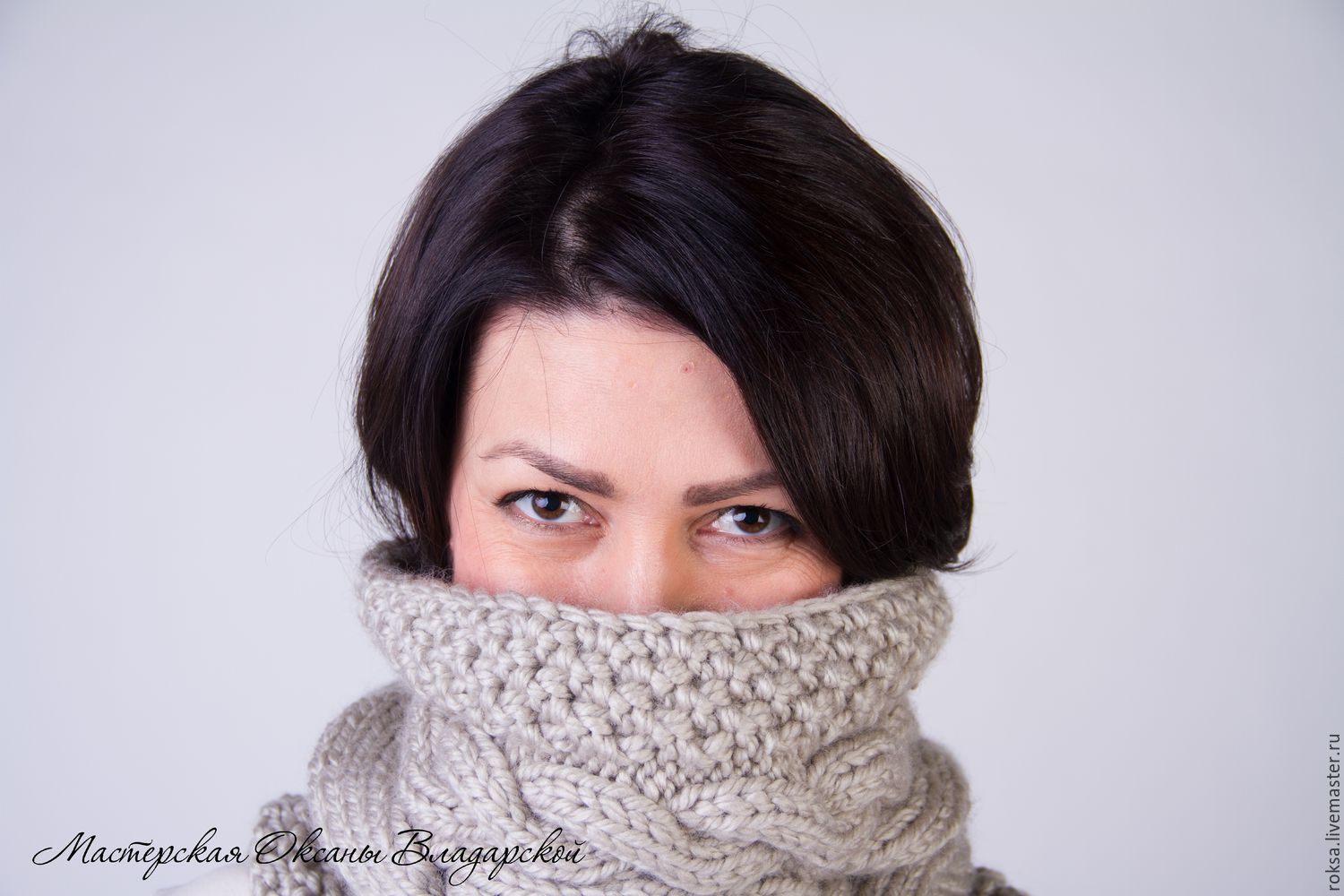 Knitted Snood, scarf, pipe, Scarves, St. Petersburg,  Фото №1