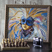 Картины и панно handmade. Livemaster - original item Venetian mask. Buy a painting with a mask. mask. Handmade.