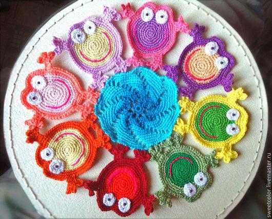Текстиль, ковры ручной работы. Ярмарка Мастеров - ручная работа. Купить Лягушачий круг.. Handmade. Лягушка, подарок на любой случай