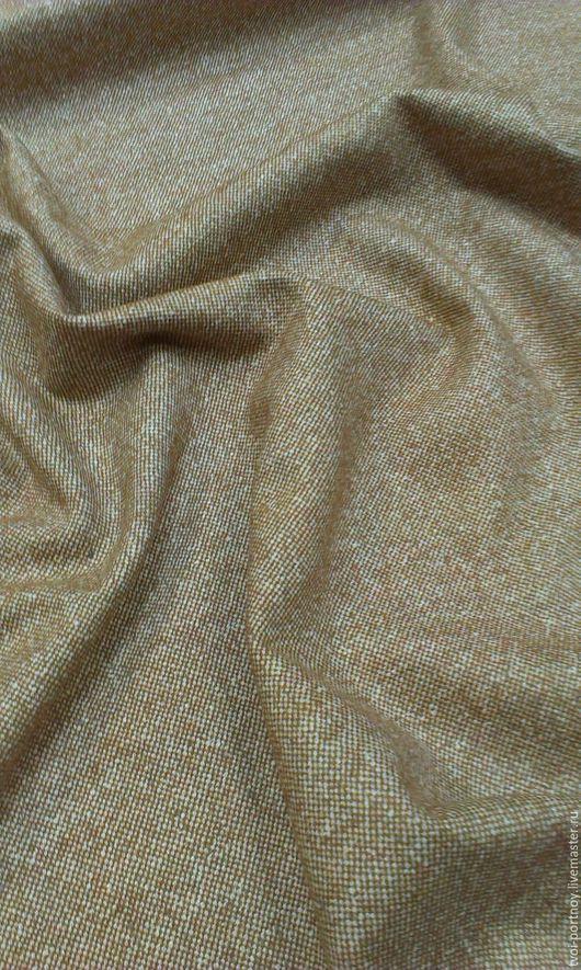 Шитье ручной работы. Ярмарка Мастеров - ручная работа. Купить Ткань костюмный твид. Handmade. Оранжевый, итальянский твид