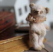 Мягкие игрушки ручной работы. Ярмарка Мастеров - ручная работа Розовый мишка! Штопка! 10 см!. Handmade.