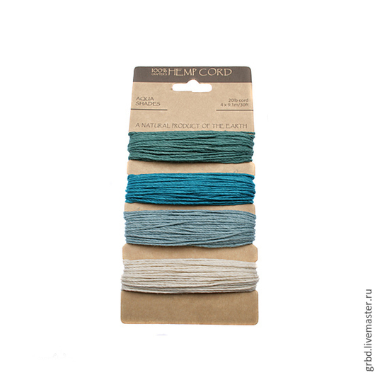 """Для украшений ручной работы. Ярмарка Мастеров - ручная работа. Купить Набор шнуров """"Aqua Shades"""". Handmade. Голубой, синий"""
