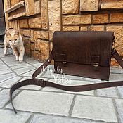 Сумки и аксессуары handmade. Livemaster - original item Briefcase made of genuine leather. Handmade.