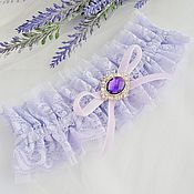 """Свадебный салон ручной работы. Ярмарка Мастеров - ручная работа Подвязка для невесты """"Lilac"""". Handmade."""
