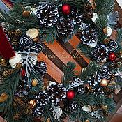 """Подарки к праздникам ручной работы. Ярмарка Мастеров - ручная работа Рождественский венок """"Merry Christmas"""". Handmade."""
