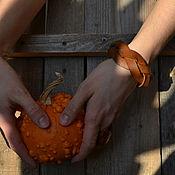 Украшения ручной работы. Ярмарка Мастеров - ручная работа Браслет кожаный плетеный. Handmade.