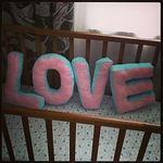 Текстильные подушки-буквы - Ярмарка Мастеров - ручная работа, handmade
