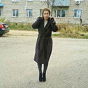 Одежда ручной работы. Ярмарка Мастеров - ручная работа Пальто-халат из кашемира коричневое. Handmade.