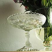 Винтаж handmade. Livemaster - original item Vase on a leg, candy bowl, fruit bowl of the Kurzhenkov brothers. Handmade.