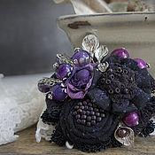 Украшения handmade. Livemaster - original item Brooch Night Violet. Handmade.