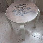 Для дома и интерьера ручной работы. Ярмарка Мастеров - ручная работа Табурет, кофейный столик декупаж Приглашение. Handmade.