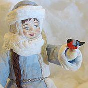Куклы и игрушки ручной работы. Ярмарка Мастеров - ручная работа Снегурочка - ватная игрушка на ёлку. Handmade.