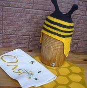 """Для дома и интерьера ручной работы. Ярмарка Мастеров - ручная работа Банный комплект """"Пчелка"""". Handmade."""