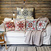 Для дома и интерьера ручной работы. Ярмарка Мастеров - ручная работа Коллекция Декоративных подушек Новогодняя. Handmade.