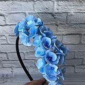 Свадебный салон handmade. Livemaster - original item Rim with blue hydrangea
