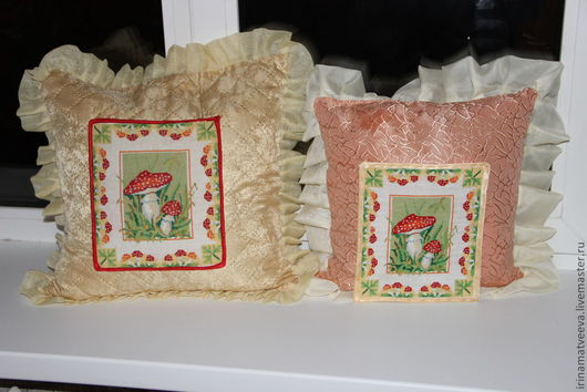 Текстиль, ковры ручной работы. Ярмарка Мастеров - ручная работа. Купить вышитая подушка. Handmade. Вышитая подушка