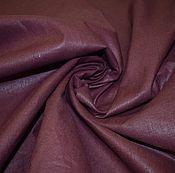 Материалы для творчества ручной работы. Ярмарка Мастеров - ручная работа Ткань лен полулен Бордово-коричневый гладкокрашенный 150см. Handmade.