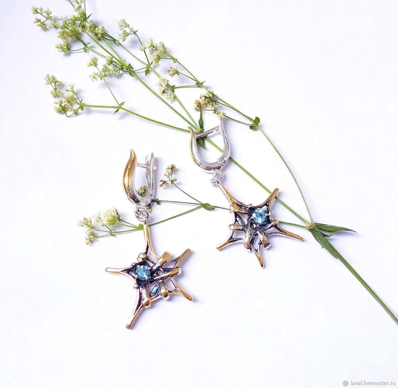 Earrings 'Star', Earrings, Kurgan,  Фото №1