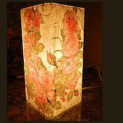 """Для дома и интерьера ручной работы. Ярмарка Мастеров - ручная работа лампа """"Ах, эти розы"""".... Handmade."""