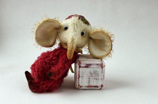 Мишки Тедди ручной работы. Ярмарка Мастеров - ручная работа. Купить Слоник Тедди друг Мишки Тедди. Handmade.
