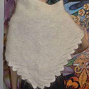 Аксессуары handmade. Livemaster - original item Down scarf shawl Cape white Uryupinsk 100% goat down. Handmade.