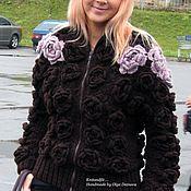 "Cardigans handmade. Livemaster - original item Cardigan. Knitting cardigan. Cardigan crochet.""Roses"". Handmade."