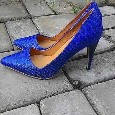 Обувь ручной работы. Ярмарка Мастеров - ручная работа Лабутены синие. Handmade.