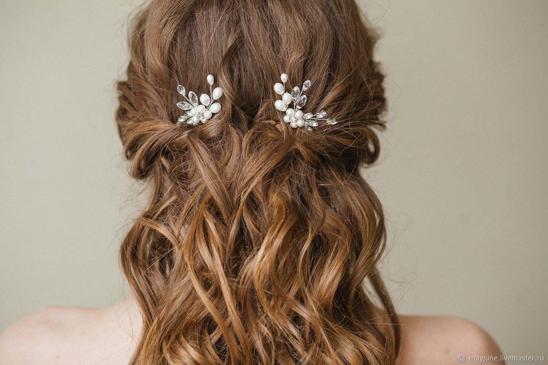 Wedding pearl hairpins, Hair Decoration, Tambov,  Фото №1
