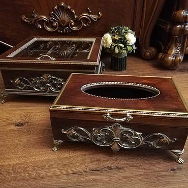Для дома и интерьера ручной работы. Ярмарка Мастеров - ручная работа Салфетница и чайная шкатулка. Handmade.