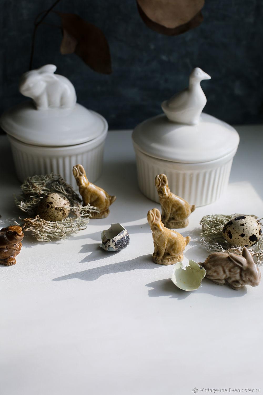 Vintage Collectible Porcelain Figurines Hares Rabbits Wade Porcelain, Vintage accessories, Nizhny Novgorod,  Фото №1