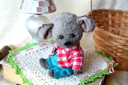 Мишки Тедди ручной работы. Ярмарка Мастеров - ручная работа. Купить Микки. Handmade. Комбинированный, тедди мышка, глаза стеклянные