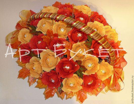 Букеты ручной работы. Ярмарка Мастеров - ручная работа. Купить Осенний шик. Handmade. Букет из конфет, сладкий букет