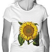 Одежда handmade. Livemaster - original item Sunflower T-Shirt. Handmade.