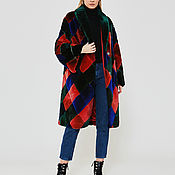 Одежда handmade. Livemaster - original item Beaver fur coat multicolored. Handmade.