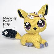 handmade. Livemaster - original item Chinchilla Sheila amigurumi pattern. Crochet kitten and flower toy. Handmade.