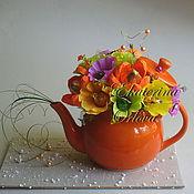 Сувениры и подарки ручной работы. Ярмарка Мастеров - ручная работа К чаю... (букет из конфет). Handmade.
