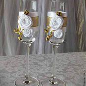 Свадебный салон ручной работы. Ярмарка Мастеров - ручная работа Свадебные фужеры. Handmade.