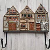 Для дома и интерьера handmade. Livemaster - original item Housekeeper: Housekeeper-hanger Alpine Houses 2. The housekeeper wall.. Handmade.