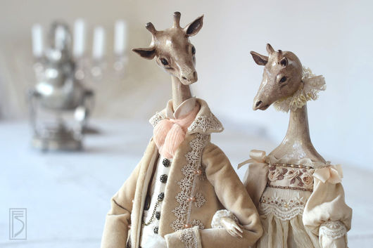 Коллекционные куклы ручной работы. Ярмарка Мастеров - ручная работа. Купить на озере Чад.... Handmade. Бежевый, Будуарная кукла, текстиль