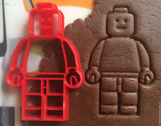 Кухня ручной работы. Ярмарка Мастеров - ручная работа. Купить Форма для пряников и печенья Лего человечек. Handmade. Разноцветный