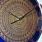 """Для дома и интерьера ручной работы. Ярмарка Мастеров - ручная работа Часы """"Синее кружево"""". Handmade."""