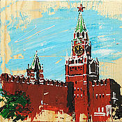 Картины и панно handmade. Livemaster - original item The picture tree on the Red square, Moscow. Handmade.