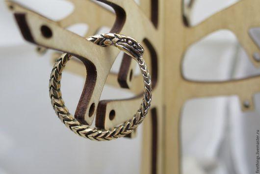 Кольца ручной работы. Ярмарка Мастеров - ручная работа. Купить Уроборос кольцо. Handmade. Оранжевый, бесконечность, славянский амулет