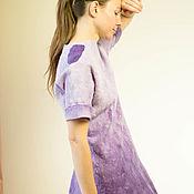 Одежда ручной работы. Ярмарка Мастеров - ручная работа Валяное платье Фиолет. Handmade.
