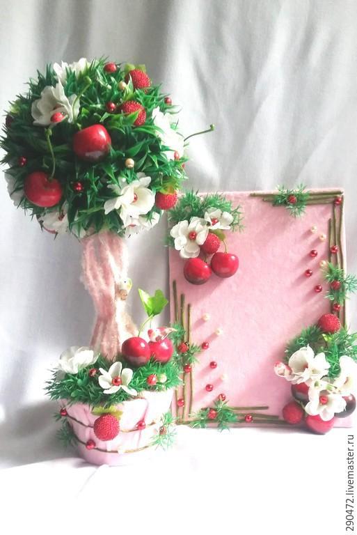 """Детская ручной работы. Ярмарка Мастеров - ручная работа. Купить Деревце и панно """"Ягодная поляна"""". Handmade. Разноцветный, ягоды"""