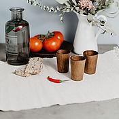 Посуда handmade. Livemaster - original item Set of wooden wine Glasses (3#26. Handmade.