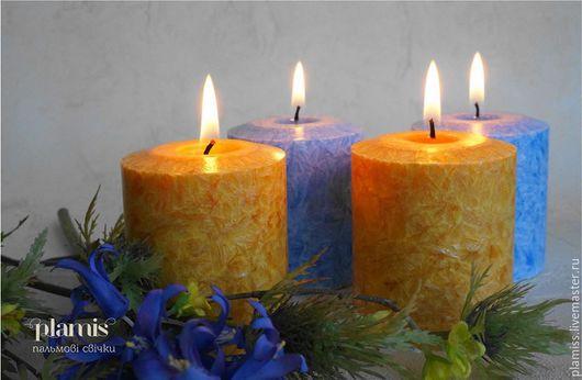 Свечи ручной работы. Ярмарка Мастеров - ручная работа. Купить пальмовые свечи Plamis. Handmade. Ручная работа handmade, белый