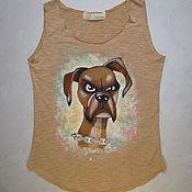 """Одежда handmade. Livemaster - original item T-shirt """"Suspicious dog"""" Art color Handmade. Handmade."""